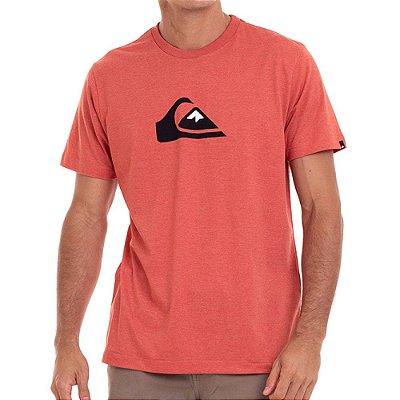 Camiseta Quiksilver Comp Logo Masculina Laranja