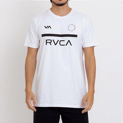 Camiseta RVCA Mid Bar Masculina Branco