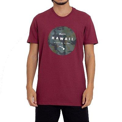 Camiseta RVCA Daaina Fill Masculina Vinho
