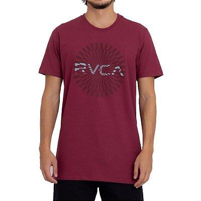 Camiseta RVCA Mayday Big Masculina Vinho