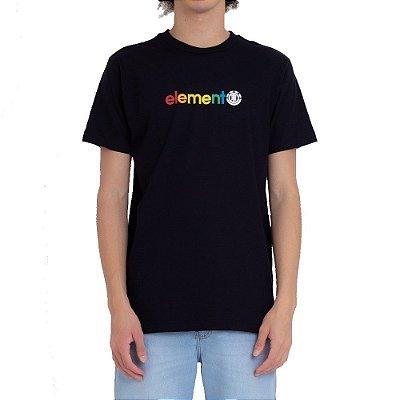 Camiseta Element Youth Horizontal Masculina Preto