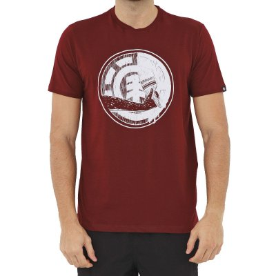 Camiseta Element Painted Masculina Vinho