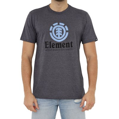 Camiseta Element Vertical Masculina Cinza Escuro