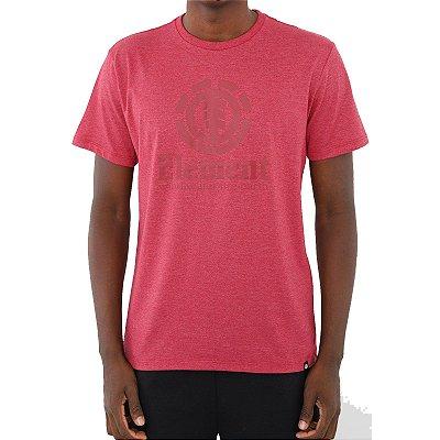Camiseta Element Vertical Masculina Rosa Escuro
