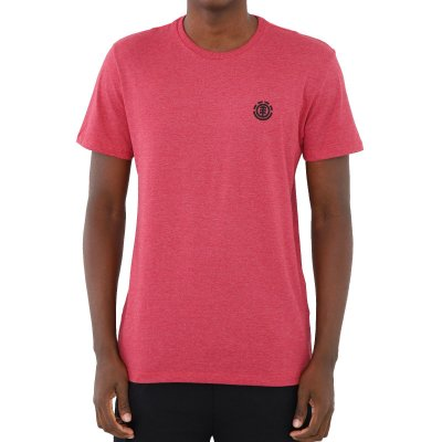Camiseta Element Logo Basic Masculina Rosa Escuro