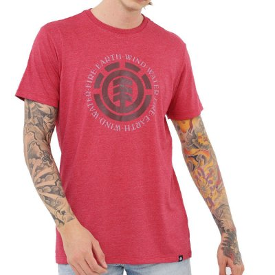 Camiseta Element Seal Masculina Rosa Escuro