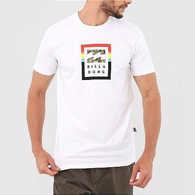 Camiseta Billabong Fire Masculina Branco
