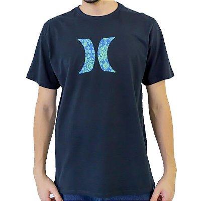 Camiseta Hurley Icon Ornamental Masculina Azul Marinho