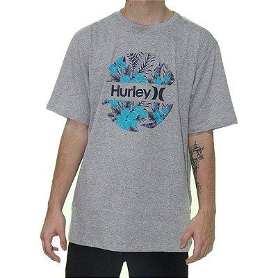 Camiseta Hurley Crush Masculina Cinza Claro