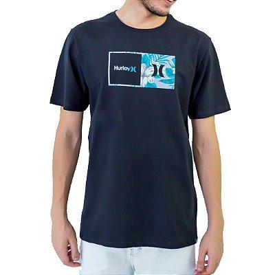 Camiseta Hurley Floral Masculina Preto