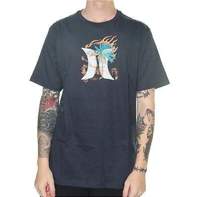 Camiseta Hurley Surf Masculina Azul Marinho