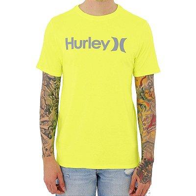 Camiseta Hurley O&O Solid Masculina Amarelo Neon