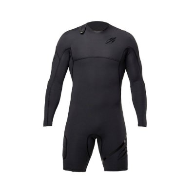 Short John Mormaii Manga Longa 1mm Masculino Flexxxa Pro Uv-Suit Surf Preto