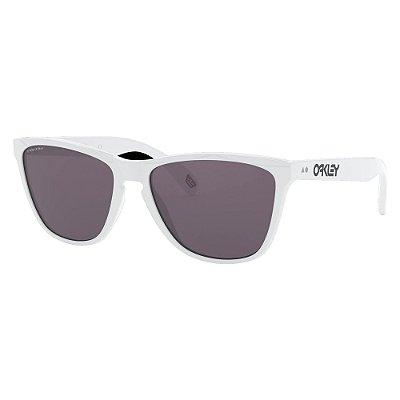 Óculos de Sol Oakley Frogskins Polished White W/ Prizm Grey