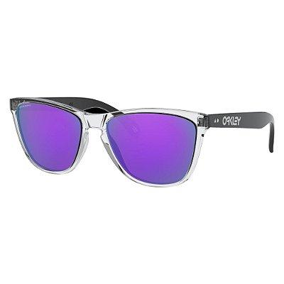 Óculos de Sol Oakley Frogskins Polished Clear W/ Prizm Violet