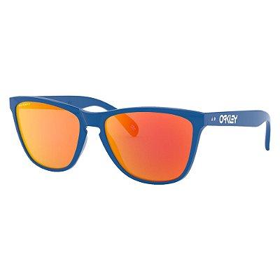 Óculos de Sol Oakley Frogskins Primary Blue W/ Prizm Ruby