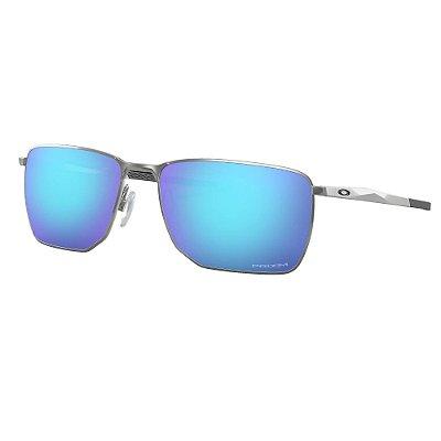 Óculos de Sol Oakley Ejector Satin Chrome W/ Prizm Sapphire