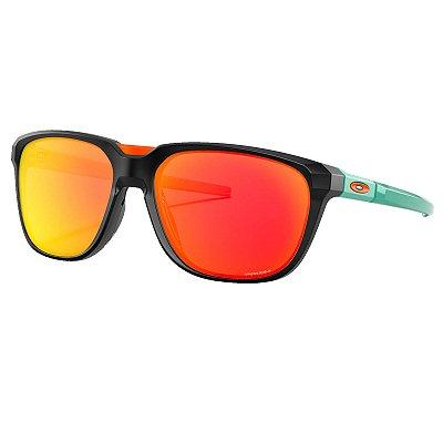 Óculos de Sol Oakley Anorak Matte Black W/ Prizm Ruby