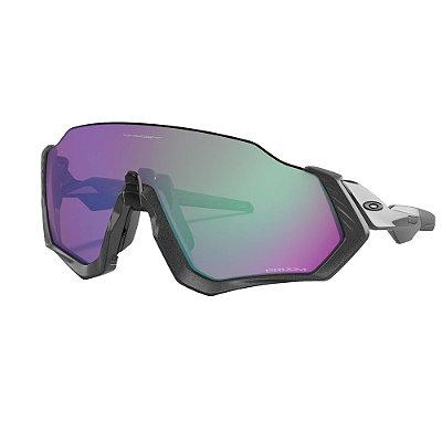 Óculos de Sol Oakley Flight Jacket Matte Steel W/ Prizm Road Jade