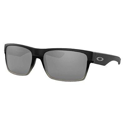 Óculos de Sol Oakley Two Face Matte Black W/ Chrome Iridium