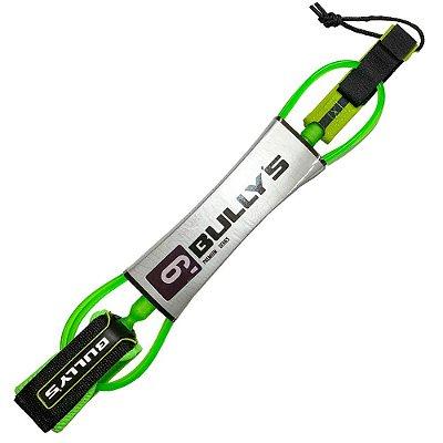 Leash Bullys 6' Premium - 5mm Competição Verde