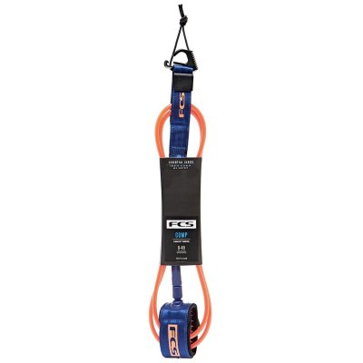 Leash FCS 6' - 5,5mm Essential Comp Laranja/Azul
