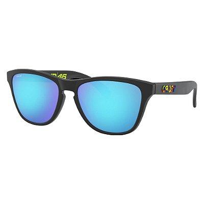 Óculos de Sol Oakley Frogskins XS Polished Black W/ Prizm Sapphire