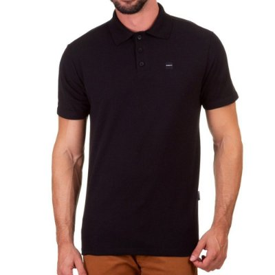 Camiseta Oakley Patch 2.0 Polo Masculina Preto