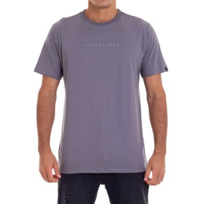 Camiseta Quiksilver Lettering Masculina Cinza