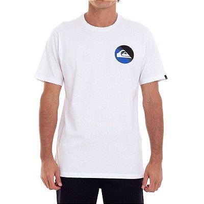 Camiseta Quiksilver Slab Logo Masculina Branco