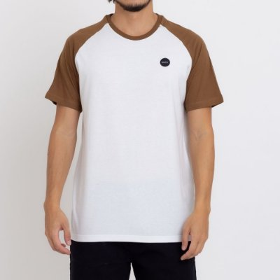 Camiseta RVCA Test Scan Masculina Off White/Marrom