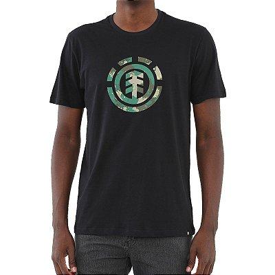 Camiseta Element Water Camo Icon Fill Masculina Preto
