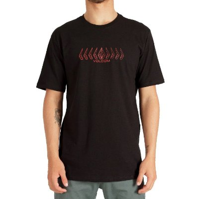 Camiseta Volcom Position Masculina Preto