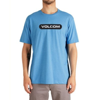 Camiseta Volcom New Euro Masculina Azul