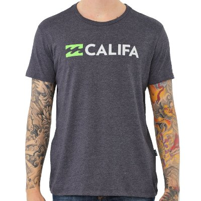 Camiseta Billabong Destination CA Masculina Cinza Escuro