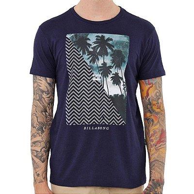 Camiseta Billabong Palmers Masculina Azul Marinho