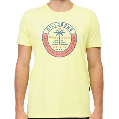 Camiseta Billabong Seashore Masculina Amarelo Neon