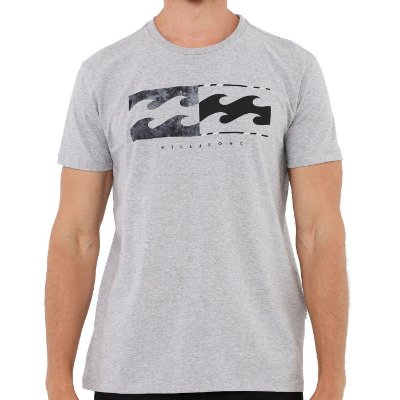 Camiseta Billabong Team Wave Masculina Cinza