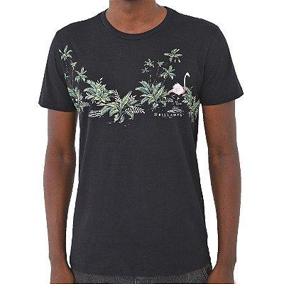 Camiseta Billabong Flamingos Masculina Preto