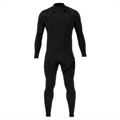 Long John Mormaii Manga Longa Chestzip 3.2mm Flexxxa Pro Surf Preto
