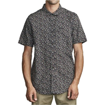Camisa RVCA Manga Curta Bellflower Preto