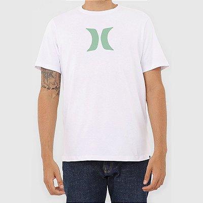 Camiseta Hurley Silk Icon Solid Masculina Branco