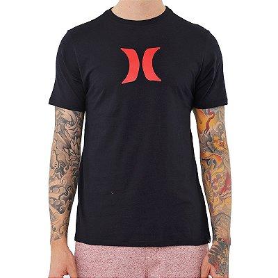 Camiseta Hurley Silk Icon Solid Masculina Preto