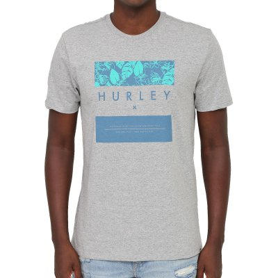 Camiseta Hurley Silk Flower Box Masculina Cinza