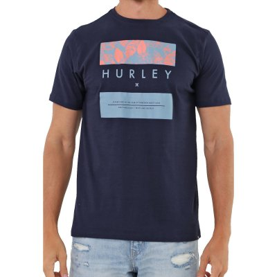 Camiseta Hurley Silk Flower Box Masculina Azul Marinho