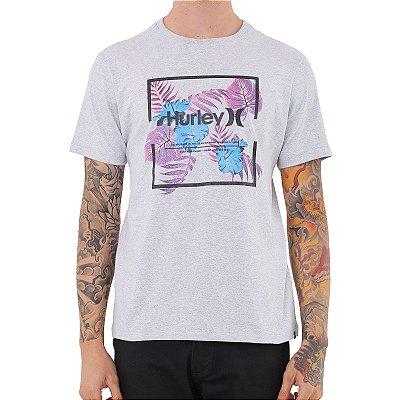 Camiseta Hurley Silk Fill Box Masculina Cinza