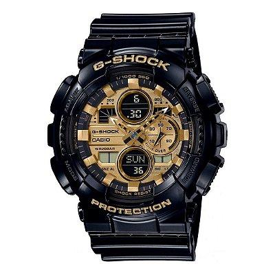 Relógio G-Shock GA-140GB-1A1DR Preto/Dourado