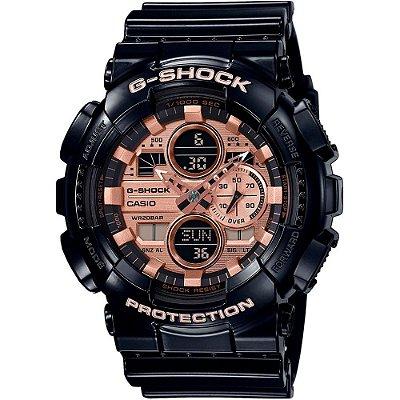 Relógio G-Shock GA-140GB-1A2DR Preto/Rosa