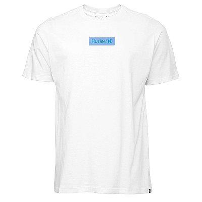 Camiseta Hurley Silk O&O Small Box Branco/Azul