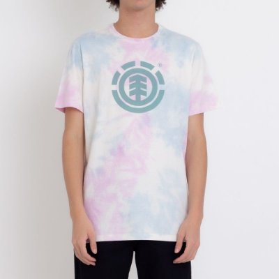 Camiseta Element Cloud Masculina Branco/Rosa